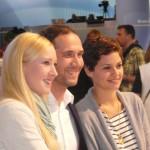 "Melanie Kogler, Claus Thull-Emden and Tatjana Kästel (""Verbotene Liebe"") at IFA 2012"